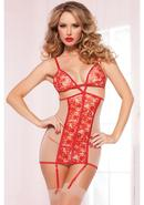 A La Rose Chemise - Red - Os