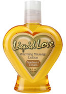 Liquid Love Warming Massage Lotion Peaches N Cream 4 Ounce