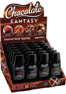 Chocolate Fantasy Body Toppings Mini Bottles 1.25 Ounce 24...