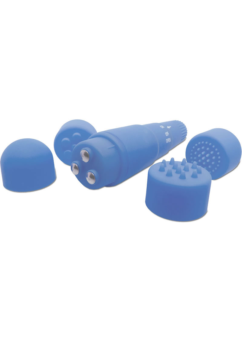 Neon Luv Touch Mini Mite Massager Waterproof 3.75 Inch Blue
